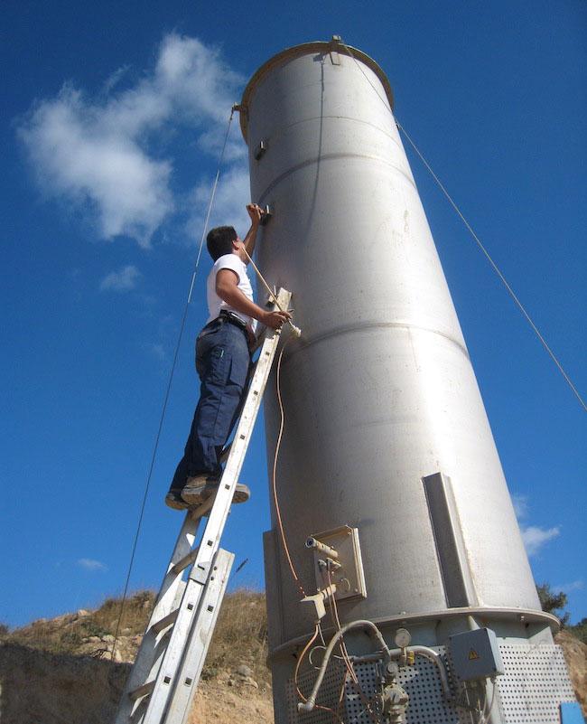 Πυρσός Καύσης Βιοαερίου, ΧΥΤΑ Αγίου Νικολάου Κρήτης