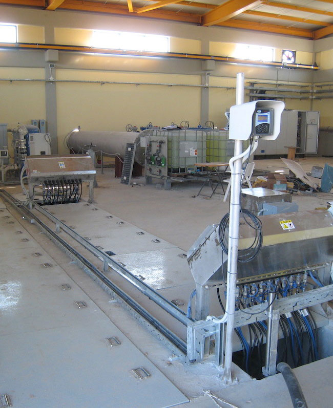 Wastewater UV disinfection system, Thriassio WWTP