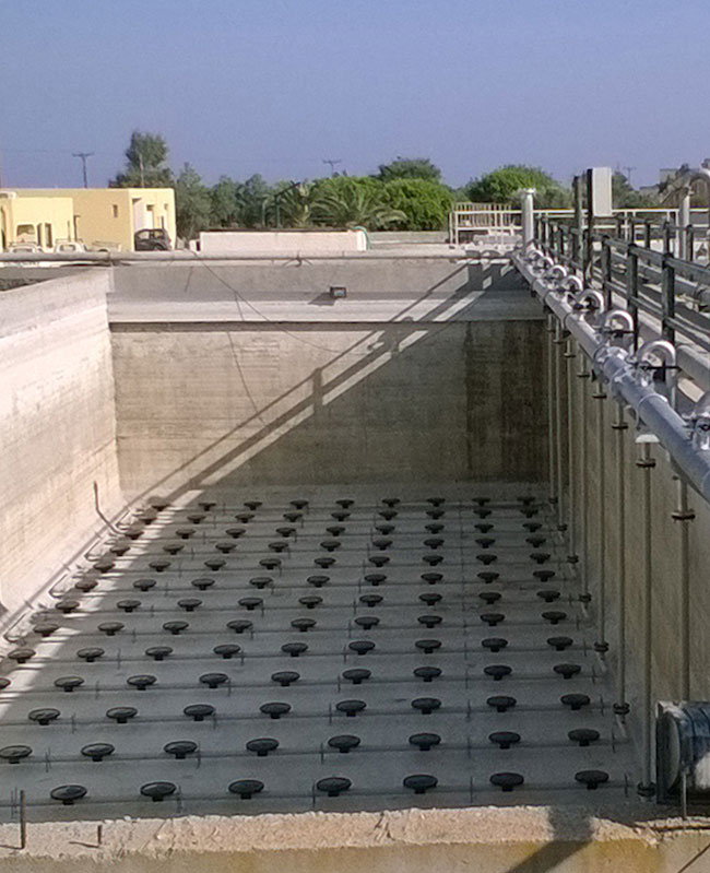Wastewater aeration system, Mesaria Santorini WWTP