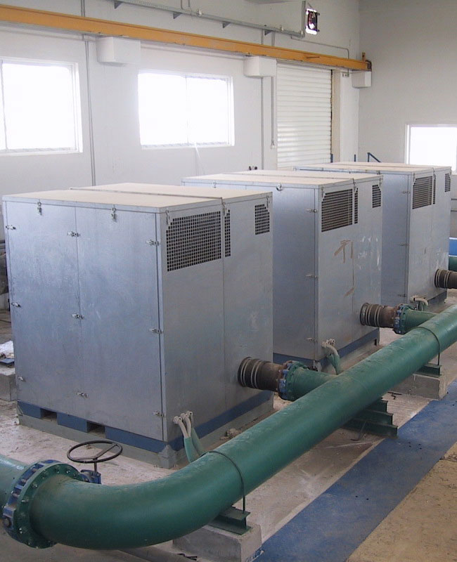 Blowers for filter backwash in drinking water treatment plant, EYDAP, Galatsi DWTP