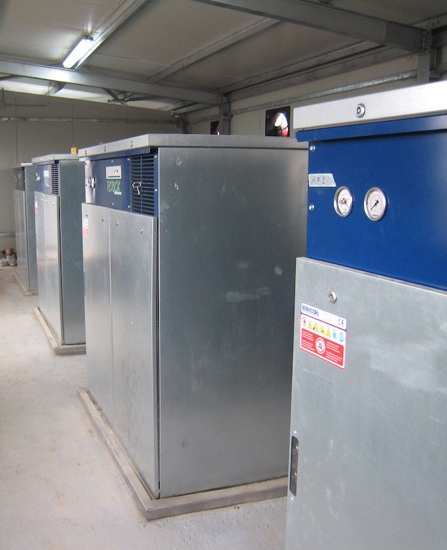 Blowers for wastewater aeration, Lamia WWTP