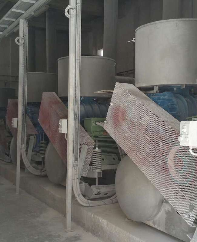 Βιομηχανικοί φυσητήρες τροφοδοσίας φούρνων ασβεστοποιίας