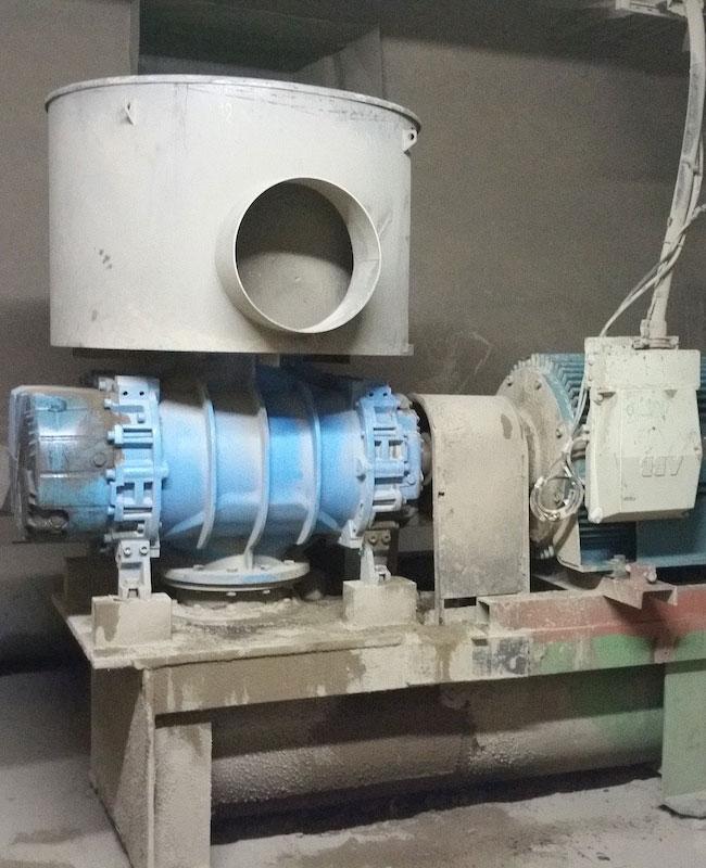 Βιομηχανικός φυσητήρας αερομεταφοράς τέφρας, λιγνιτικού ΑΗΣ ΔΕΗ