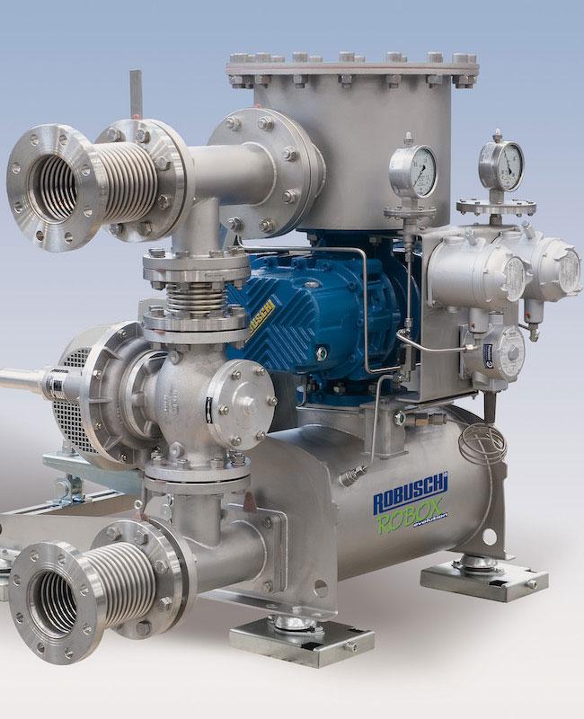 Συγκροτήματα λοβοειδή φυσητήρα βιοαερίου ROBOX Biogas