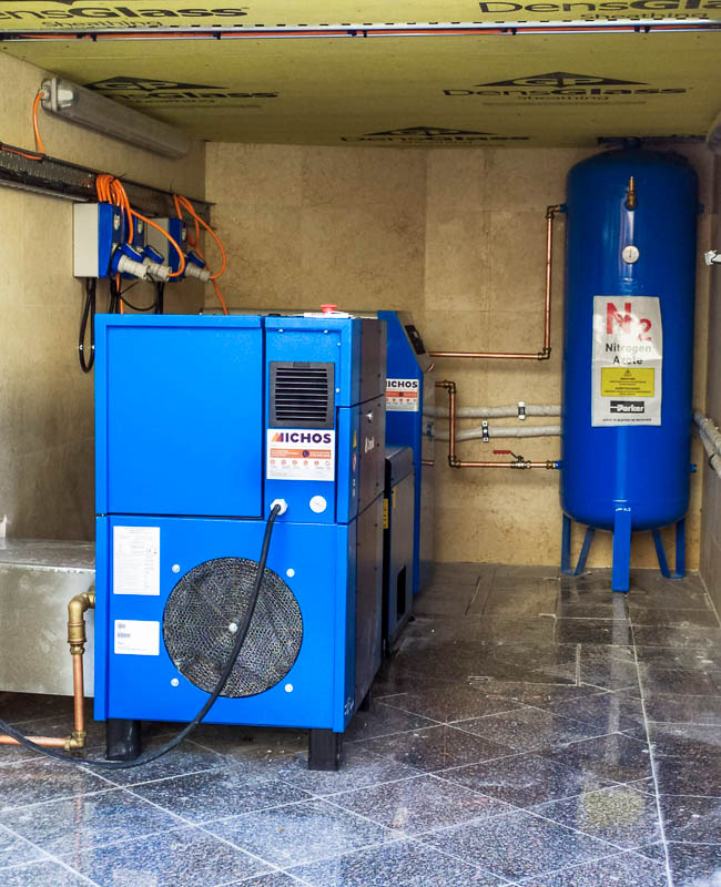 Εγκατάσταση συστήματος παραγωγής αζώτου σε διακεκριμένο οινοποιείο