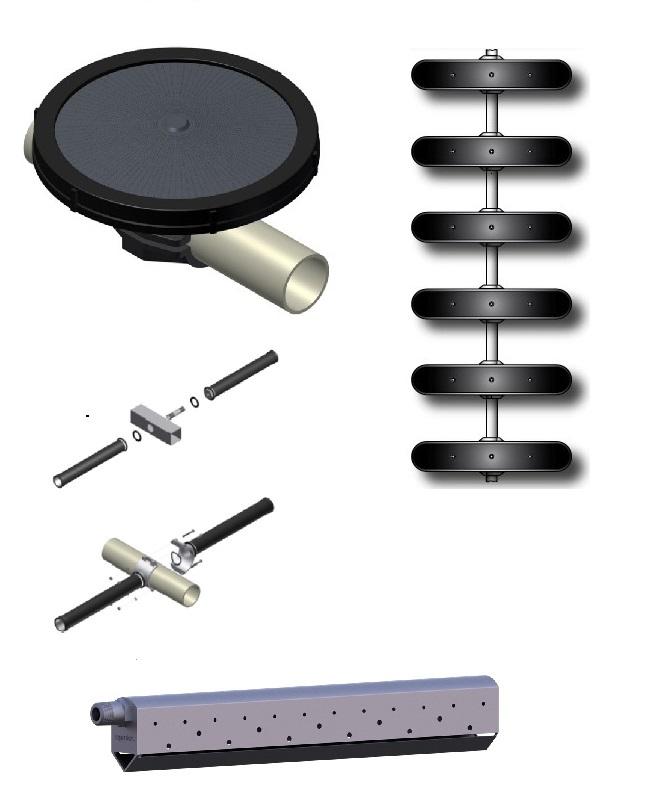 Διαχύτες μεμβράνης αερισμού λυμάτων Supratec - Oxyflex®