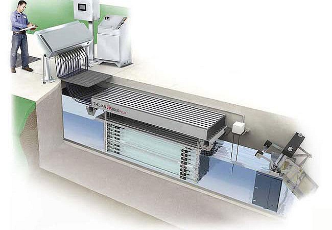 Συστήματα UV ανοιχτού καναλιού για λύματα Σειρά UV3000Plus